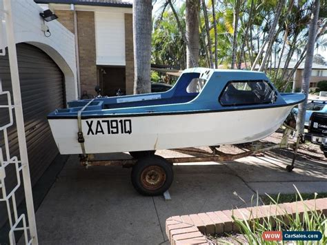 half cabin boats qld 15 foot half cabin boat and trailer for sale in australia