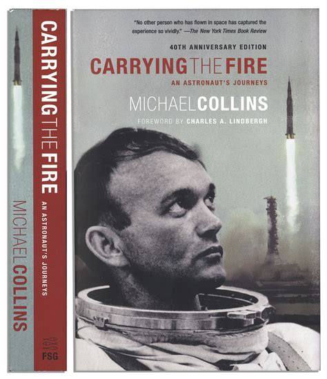 carrying the fire an lot detail michael collins carrying the fire an astronaut s journeys signed 40th