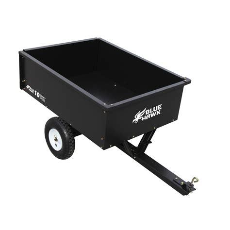 shop blue hawk 10 cu ft steel dump cart at lowes
