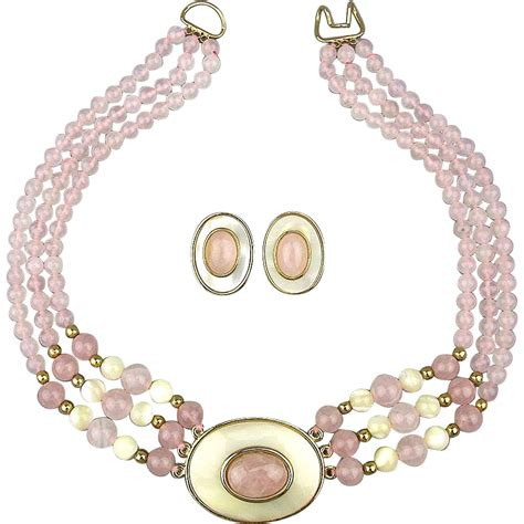 pearl bead necklace vintage quartz of pearl bead necklace