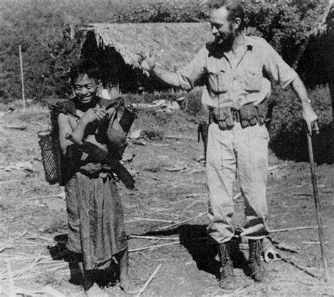 a brief history of the home post war 1945 present lt vincent curl with a kachin villager