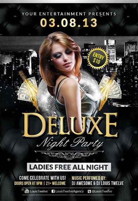 Free Flyer Template Deluxe Night Club Psd Flyer Template Nightclub Flyer Templates
