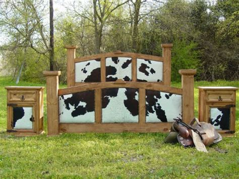 cowhide beds image detail for cowhide rustic post bed this is my