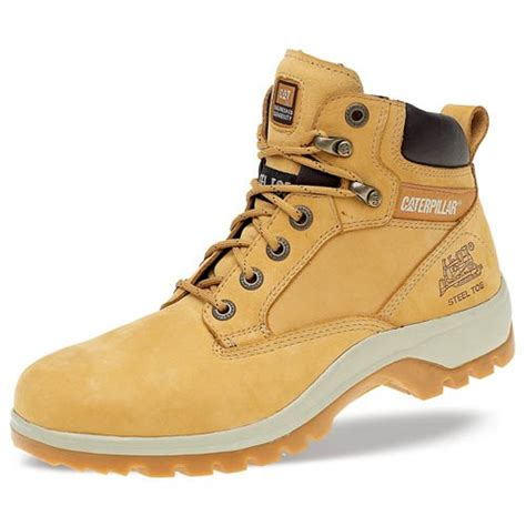 Caterpilar Boots Safety cat 7047 kitson honey nubuck hiker safety boots with steel toe cap