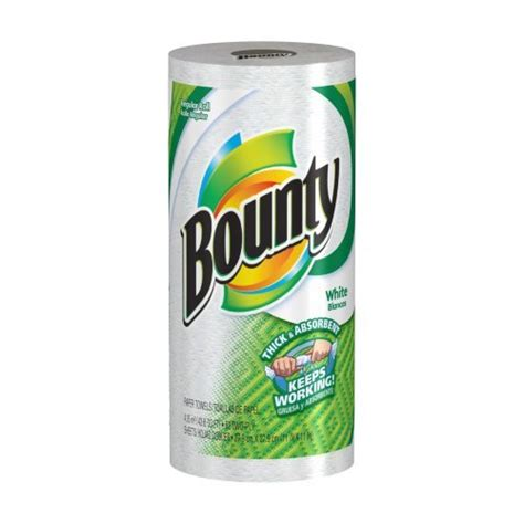 Who Makes Bounty Paper Towels - bounty paper towels white regular roll pack