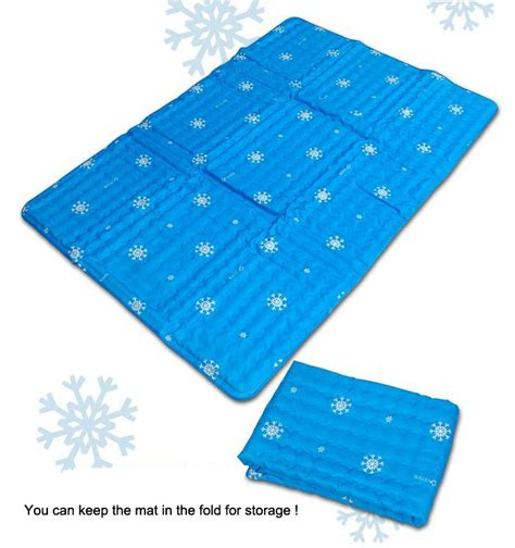 ilwoul cool gel mattress bed pad cooling topper blue