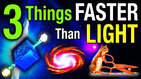 How To Travel Faster Than Light by 3 Things Faster Than Light