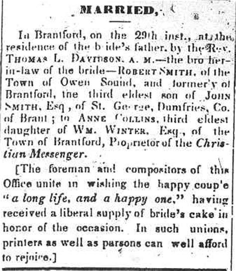 Ontario Birth Records 1800s Canada Ontario Newspaper Database
