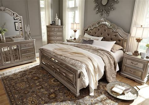 ashley furniture b720 birlanny traditional queen king birlanny silver king upholstered panel bed from ashley