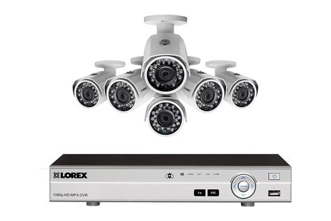 lorex mpx86w hd 1080p surveillance system with 6 outdoor