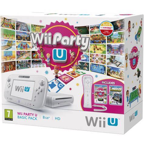 wii u white console wii u console 8gb basic pack bundle white includes wii