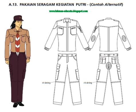 pakaian seragam pramuka terbaru lukman nulhakim