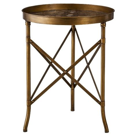 Gold End Table Target threshold sted metal accent table gold