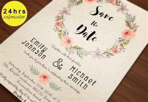 save the date template save the date printable