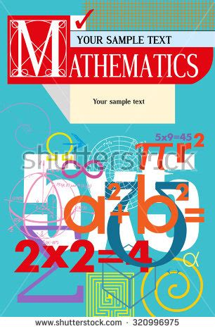 mathematics vector cover a background from scientific