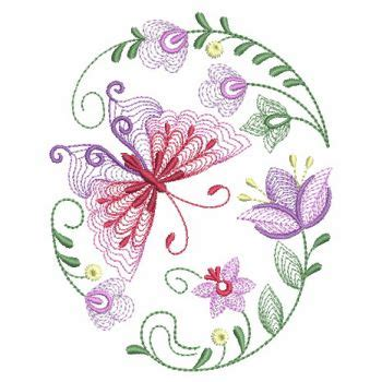 Bv4765ls Embroidery Flower And Butterfly embroidery designs