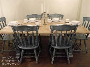 kitchen tables and chair sets dining table and six chairs by pomponette sloan