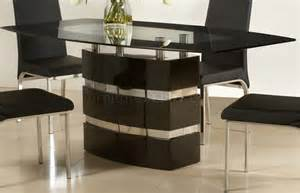 Black high gloss finish modern dining table w optional chairs cyds