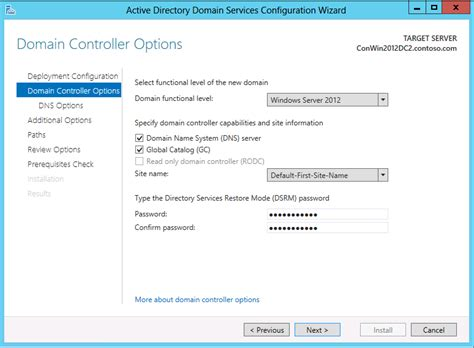install   windows server  active directory child