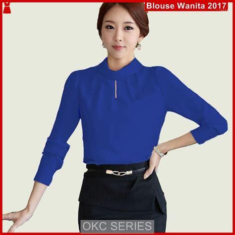 model atasan online c3okc atasan wanita terbaru ala korea polos biru bj33c3