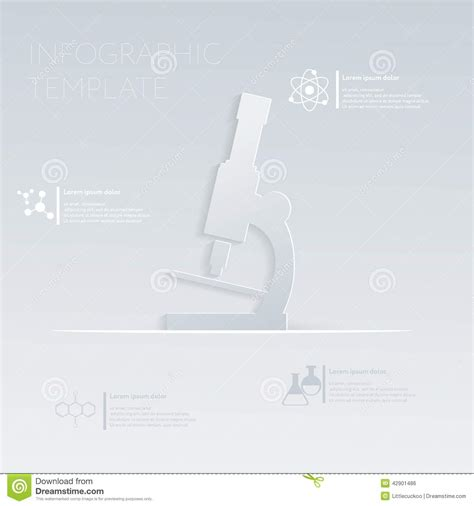 website layout template vector vector illustration microscope sign template graphic or
