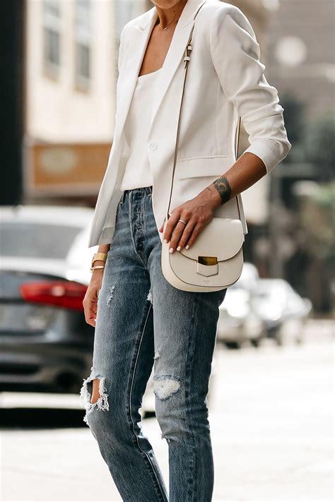 wear  white blazer  summer fashion jackson