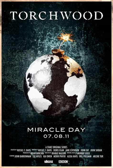 Torchwood Miracle Day Torchwood Miracle Day Poster Design Metatroniks