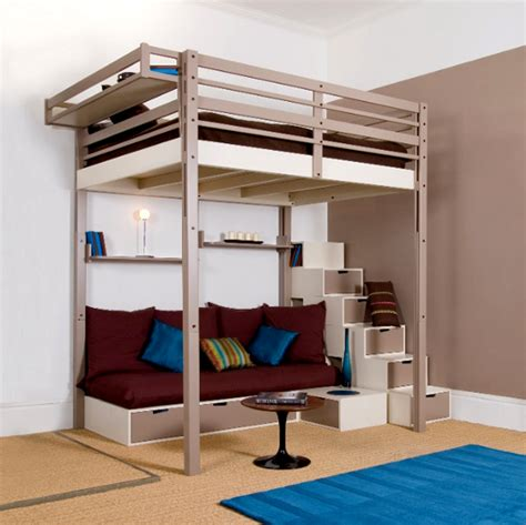 Lofted Bed by Plans For Loft Bed With Stairs Woodworking Projects