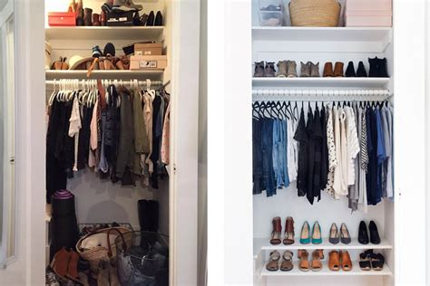Closet Declutter by 10 Organized Closet Before Afters