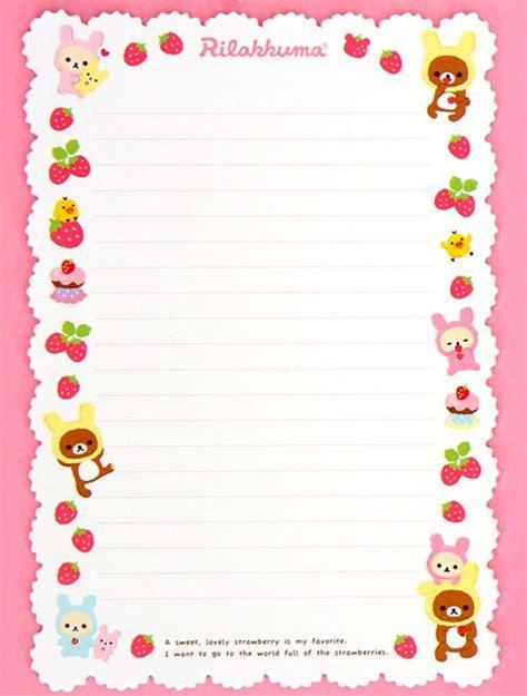 Rillakuma Japan Letter Set rilakkuma strawberry letter set from japan letter