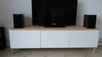 meuble tv avec besta ikea bidouilles ikea