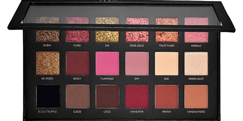 Huda Textured Eyeshadow Palette Gold Edition 18 Colors house of