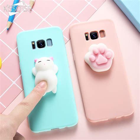 Terbaru Casing Cat Squishy Casing For Samsung Galaxy S7 kisscase squishy cat phone for samsung galaxy s8 s7 s6 note 8 j3 j5 j7 a3 a5 a7 2017 cases