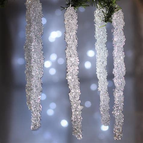 crystal icicle ornaments christmas and winter sale sales