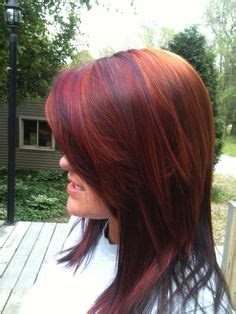 sculptured dimensional hair cut copper highlights razor cut bob and razor cuts on pinterest