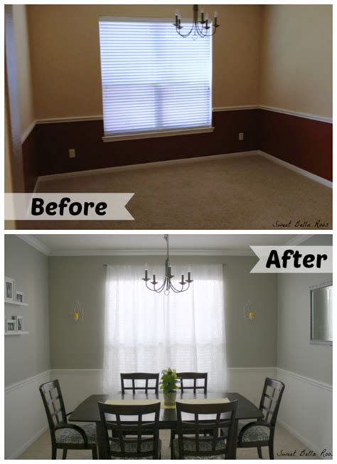 room makeover before and after dining room before and after amazing what a little paint