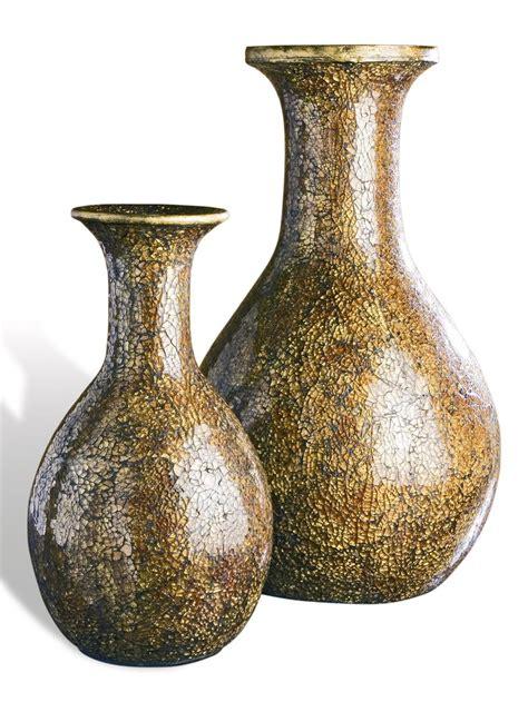 Big Decorative Vases Cortes Large Bronze Gold Mosaic Decorative Vases
