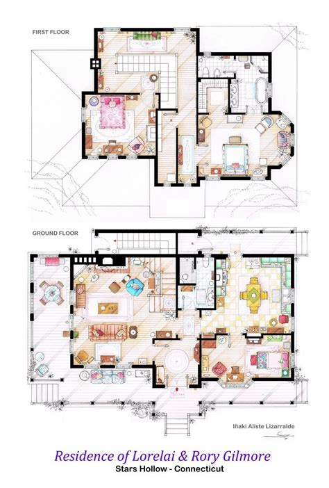 Two And A Half Men House Floor Plan by 13 Incredibly Detailed Floor Plans Of The Most Famous Tv