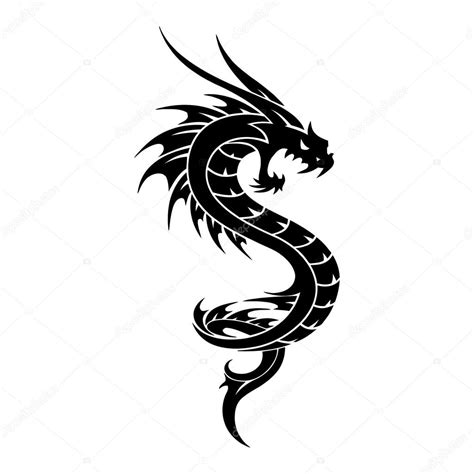 dragon tattoo vector free tattoo dragon vector tribal illustration stock vector
