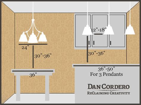 Kitchen Island Lighting Height Dan Cordero