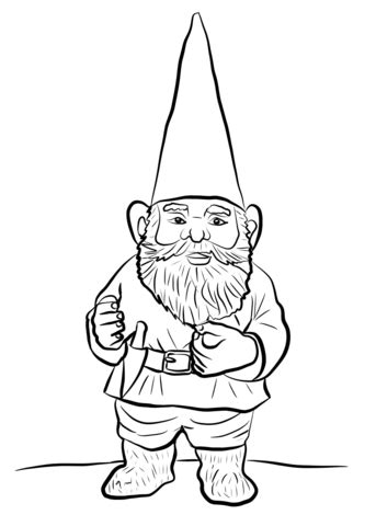coloring page garden gnome garden gnome coloring page free printable coloring pages
