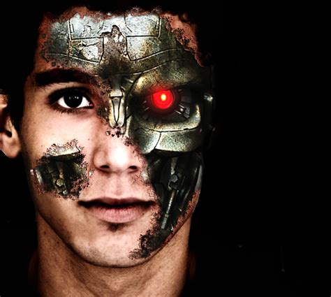 tutorial photoshop terminator terminator face by brox023 on deviantart