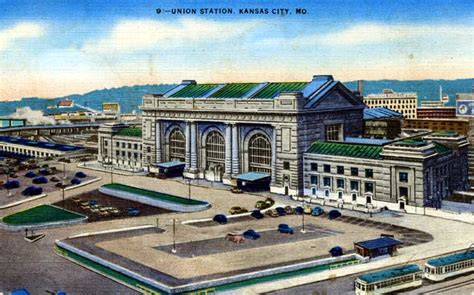 frisco postcards kansas city missouri depots