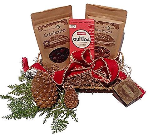 organic nuts and superfoods holiday gift basket special