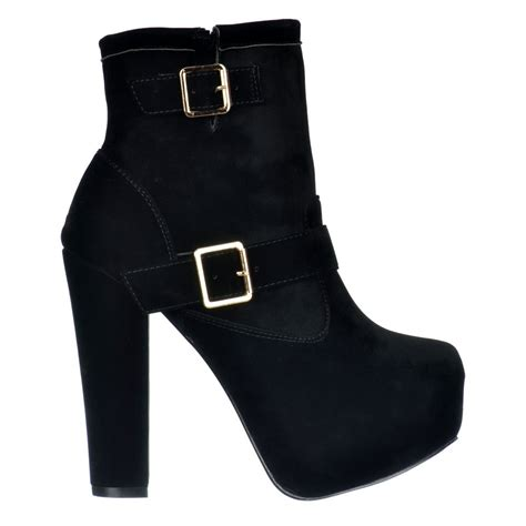 high heel ankle boots with buckles shoekandi suede ankle high heel chelsea boot buckles