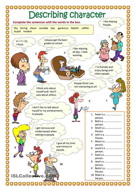 describing character part 1 ingles