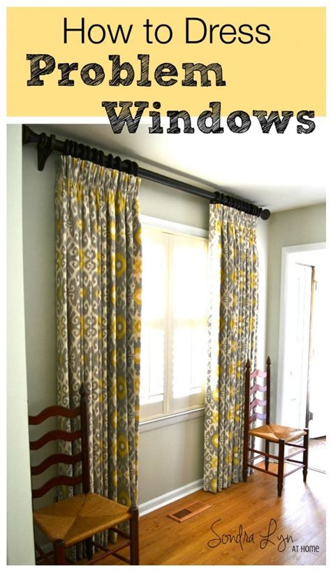 How To Dress Windows | how to dress problem windows sondra lyn at home
