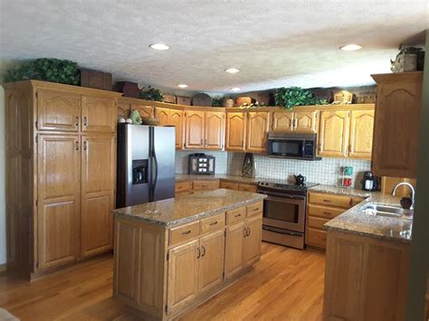 kitchen cabinets springfield mo interior trim conversion and cabinet painting pin oak dr