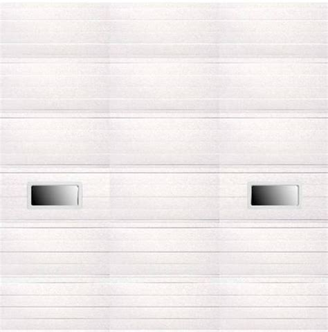 12 X 12 Insulated Garage Door by Ideal Door 174 12 Ft X 12 Ft 5 White Ribbed 2 Lite