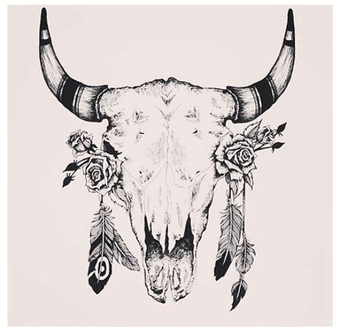 bull skull tattoo designs best 25 cow skull tattoos ideas on
